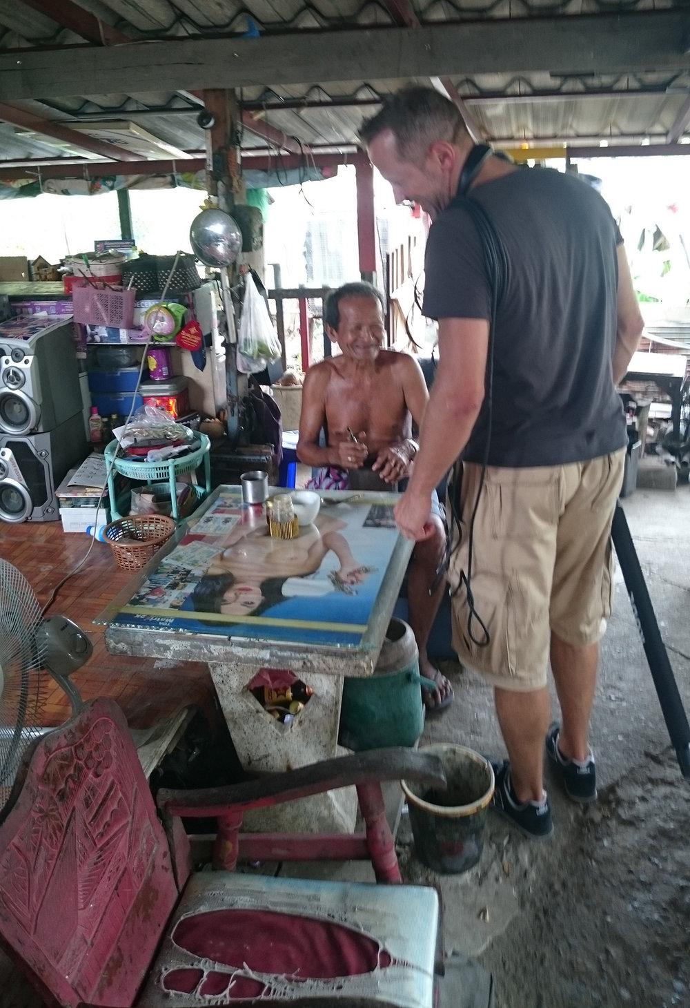 """Ein Thailänder an seinem """"Stammplatz"""" :-)..."""