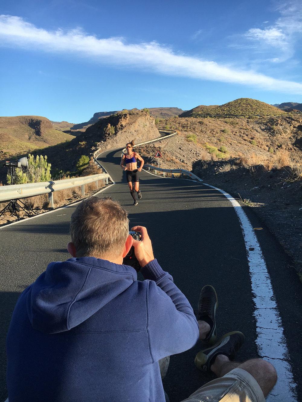 Bei wunderbaren Verhältnissen auf Gran Canaria @work mit Olympiasiegerin Nicola Spirig