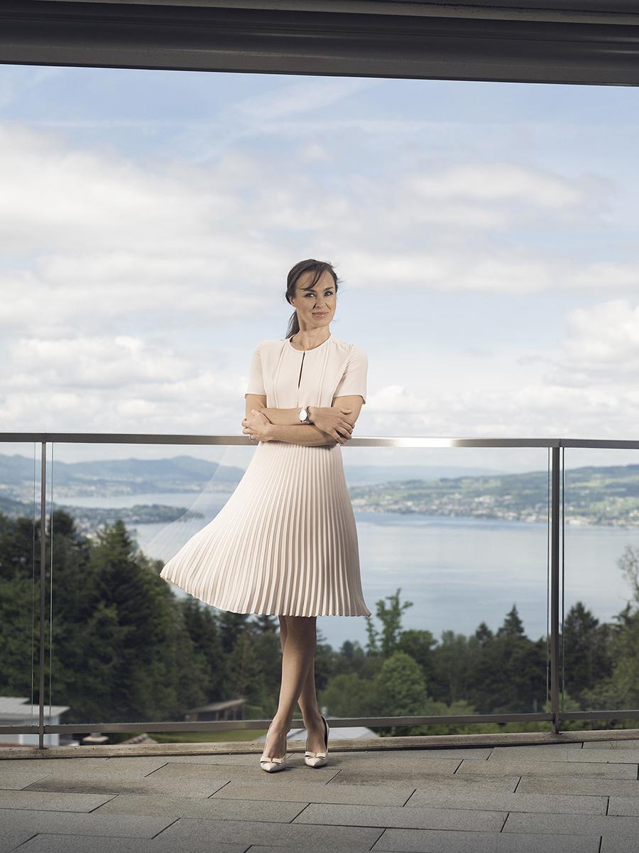 Martina Hingis für die Uhrenmarke Alex Benlo.
