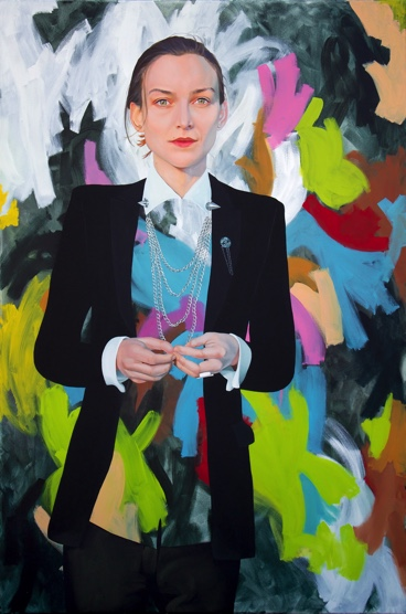 Painting: Oil on Canvas.  My Finalist portrait of Ollie Henderson for the 2015 Archibald Prize.