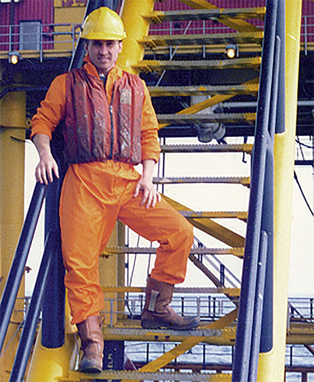 Perry funded his early race career by working on North Sea Oil Rigs