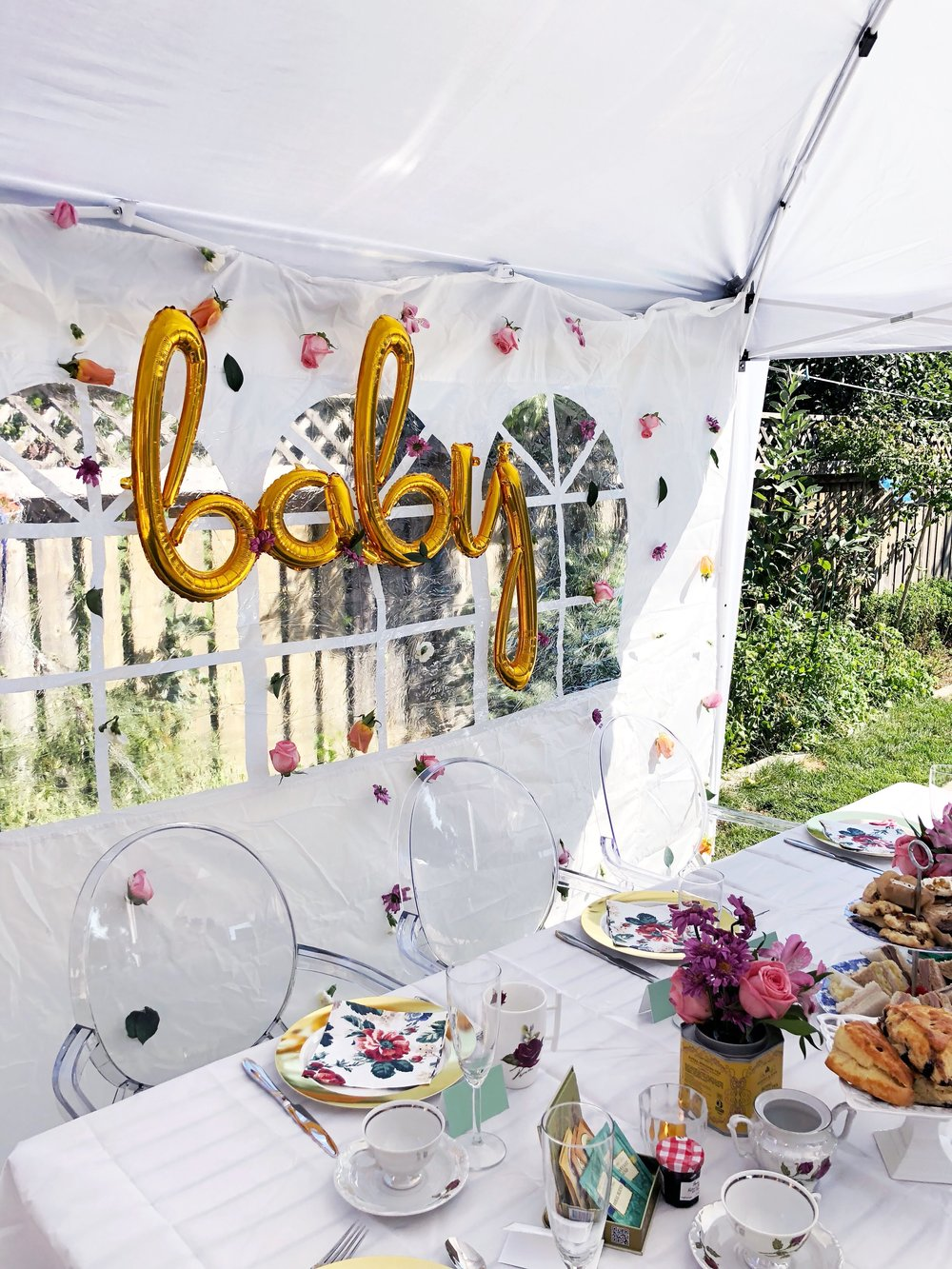 """Baby Sprinkle - Baby Shower Coordination // September 2018""""Pastiche Events truly went above and beyond to create the most perfect Baby Sprinkle for my sister. Khrystyna took my idea of a 'garden tea party' theme and ran with it. Her organization skills, creativity and time management was the reason the party was such a success. As host of the event, I was still able to greet my guests and enjoy myself because I knew Pastiche Events had everything under control. My favourite part of working with Khrystyna was her attention to detail. She came up with the idea of using tea tins for flower centrepieces, they were definitely eye catching. I am so glad Pastiche Events was a part of my sisters special day, without them I would not have been able to pull off such an amazing party!"""" - Iryna (Sister of the Mom-to-be!)"""