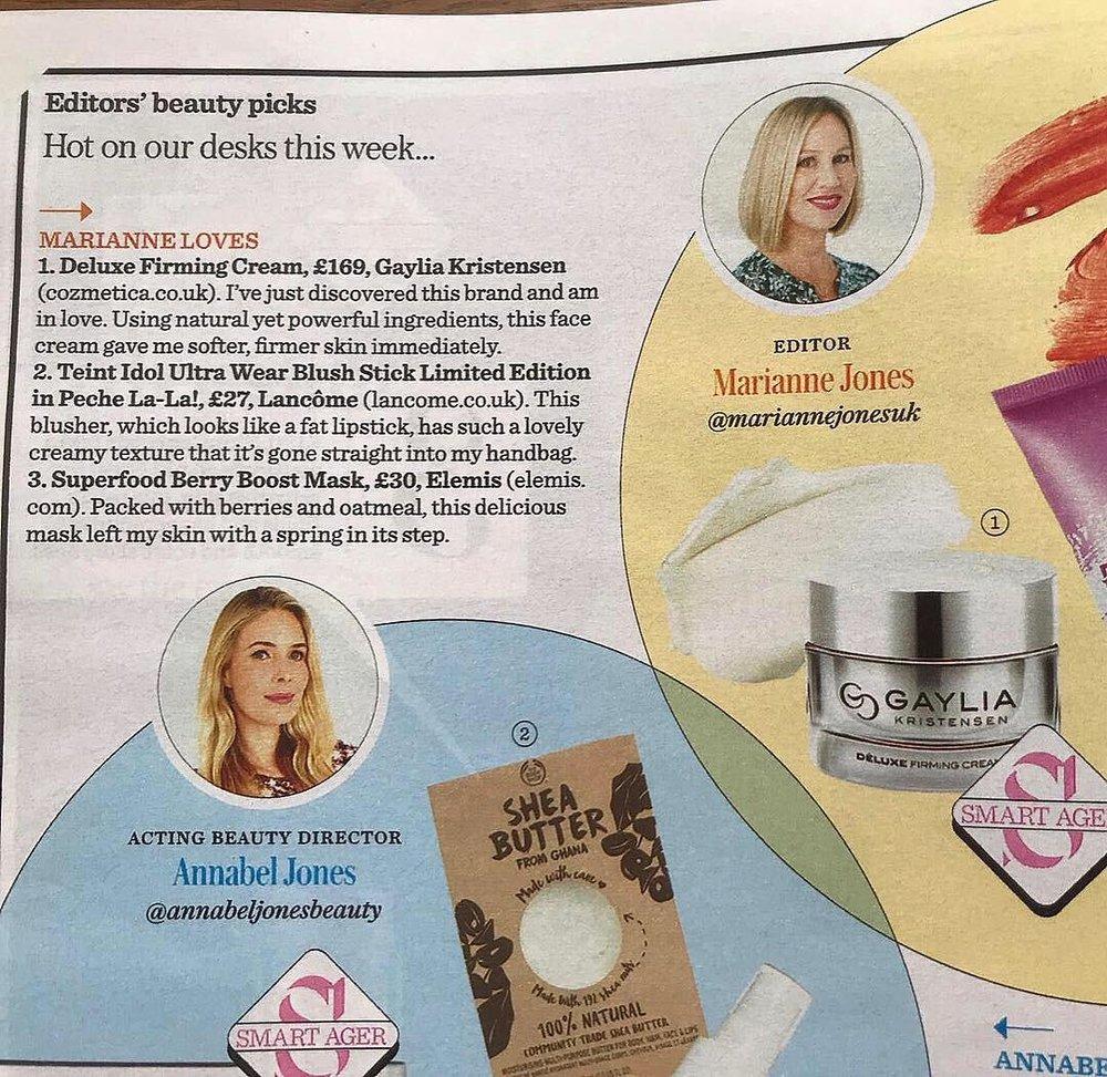 Deluxe Firming Cream, £169, Gaylia Kristensen - Stella Magazine Article