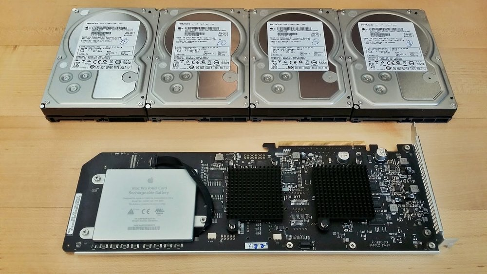 Apple RAID Card and Drives
