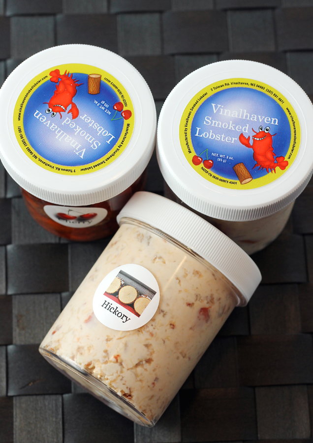 The sampler pack includes four small containers so you can try both dips and both styles of smoked lobster. Photo: FoodGal.com