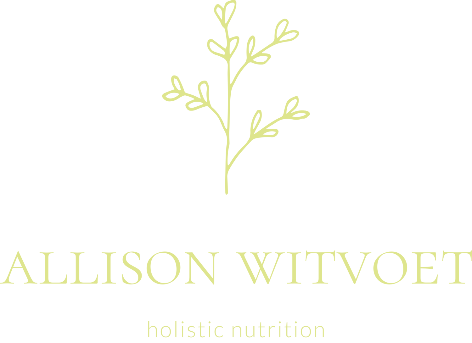 Allison Witvoet, Holistic Nutrition