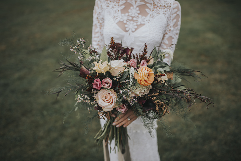 wedding flowers by Stitchdown Farm
