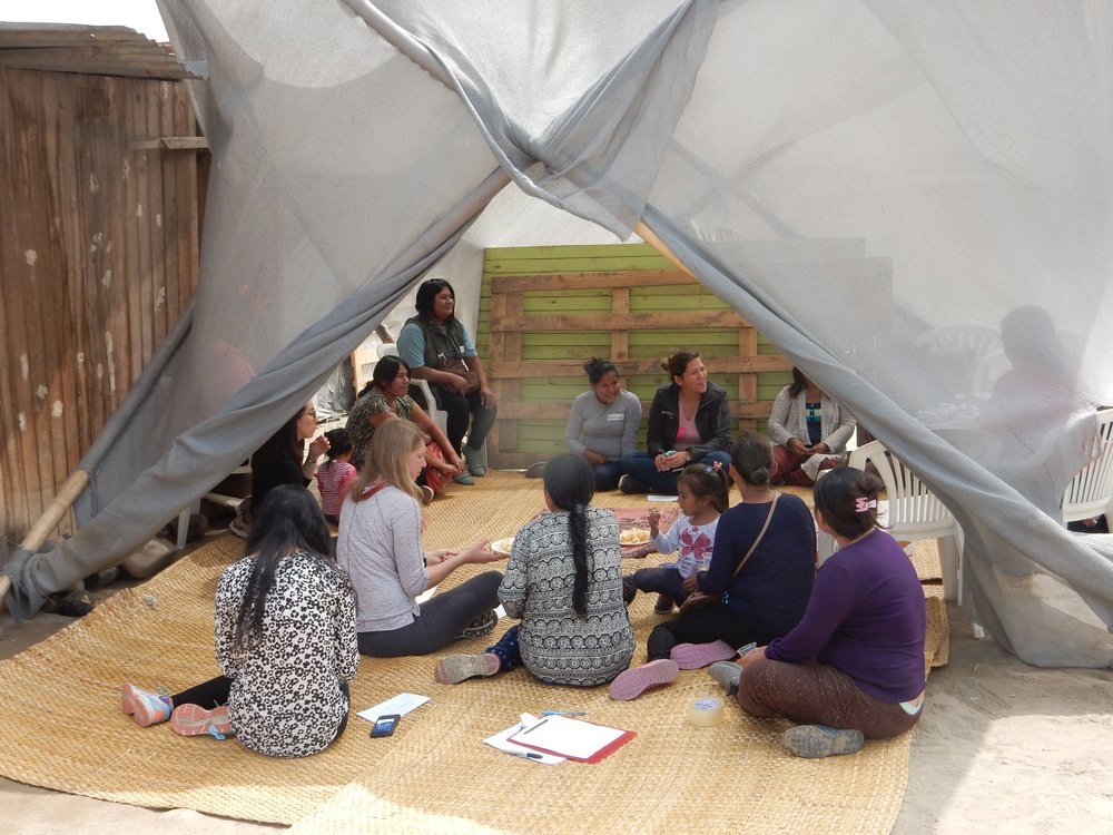 A focus group with a community that used Libremente in Lima, Peru. Photo credit:    José Gallegos Torres