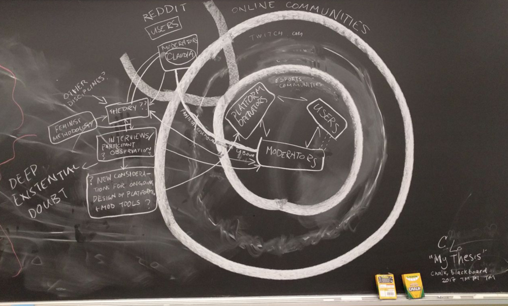 A draft version of a reasoning diagram drawn by Claudia Lo. Photo credit:  Claudia Lo