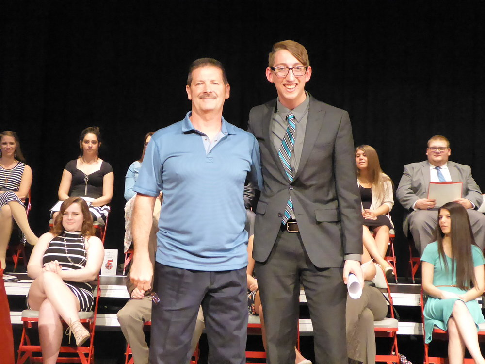 2017 Scholarship Winner: Michael Shoemaker (Annual Recipient) (Pictured with Ron Ratliff, STG President)