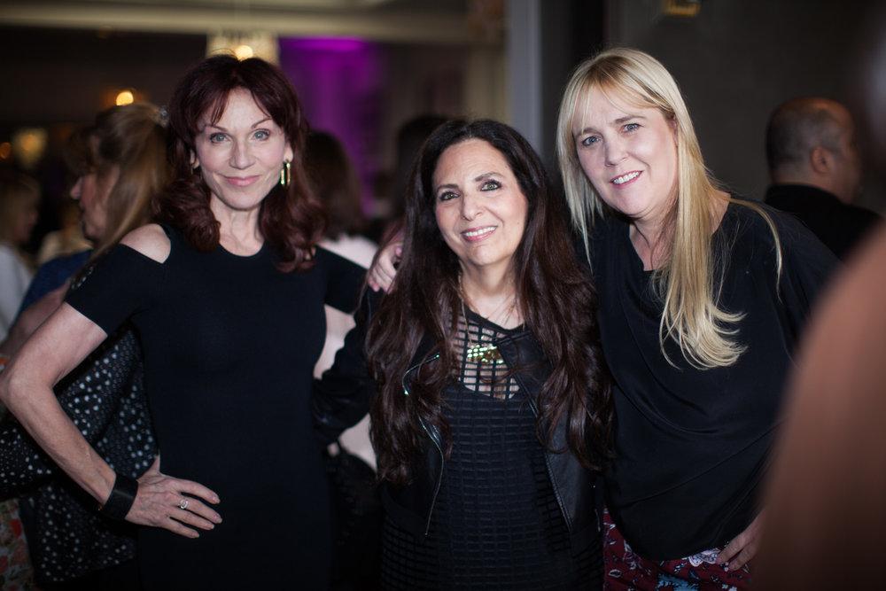 Cofounder Sharon Feldstein with Marilu Henner and Anne Josephson