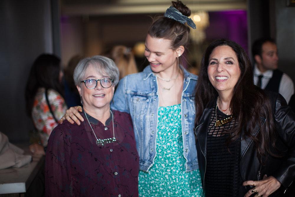 Cofounders Sharon Feldstein and Patsy Noah with Behati Prinsloo