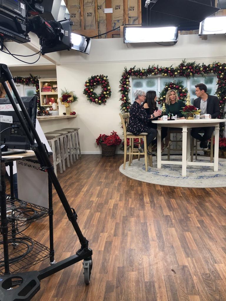 Cofounders Sharon Feldstein and Patsy Noah on set of Home & Family
