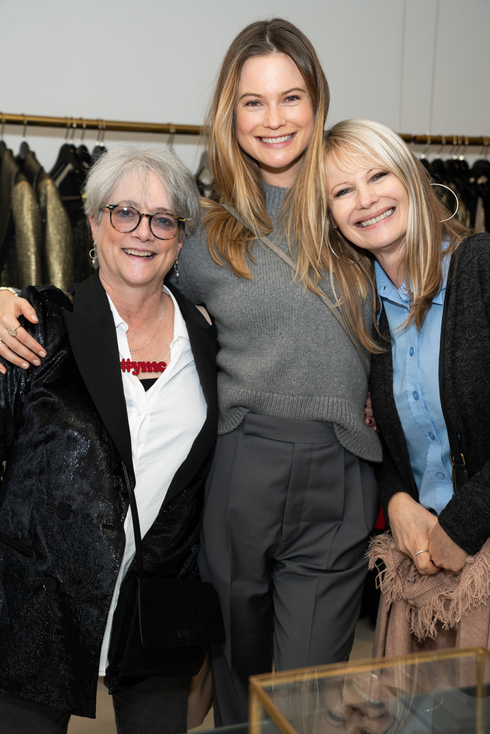 Cofounder Patsy Noah with Behati and Magda Prinsloo