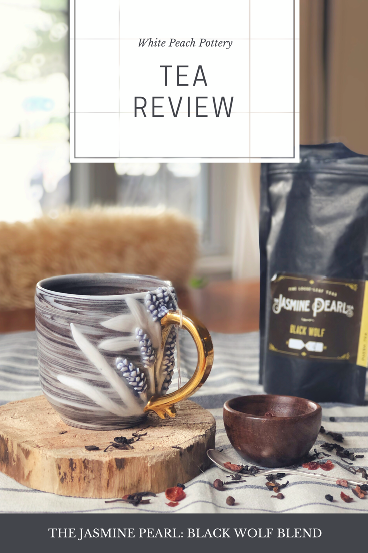 White Peach Pottery's review of the Jasmine Pearl's 'Black Wolf' Blend