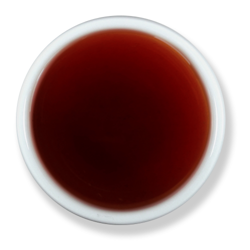 The Jasmine Pearl's Black Wolf Tea brewed