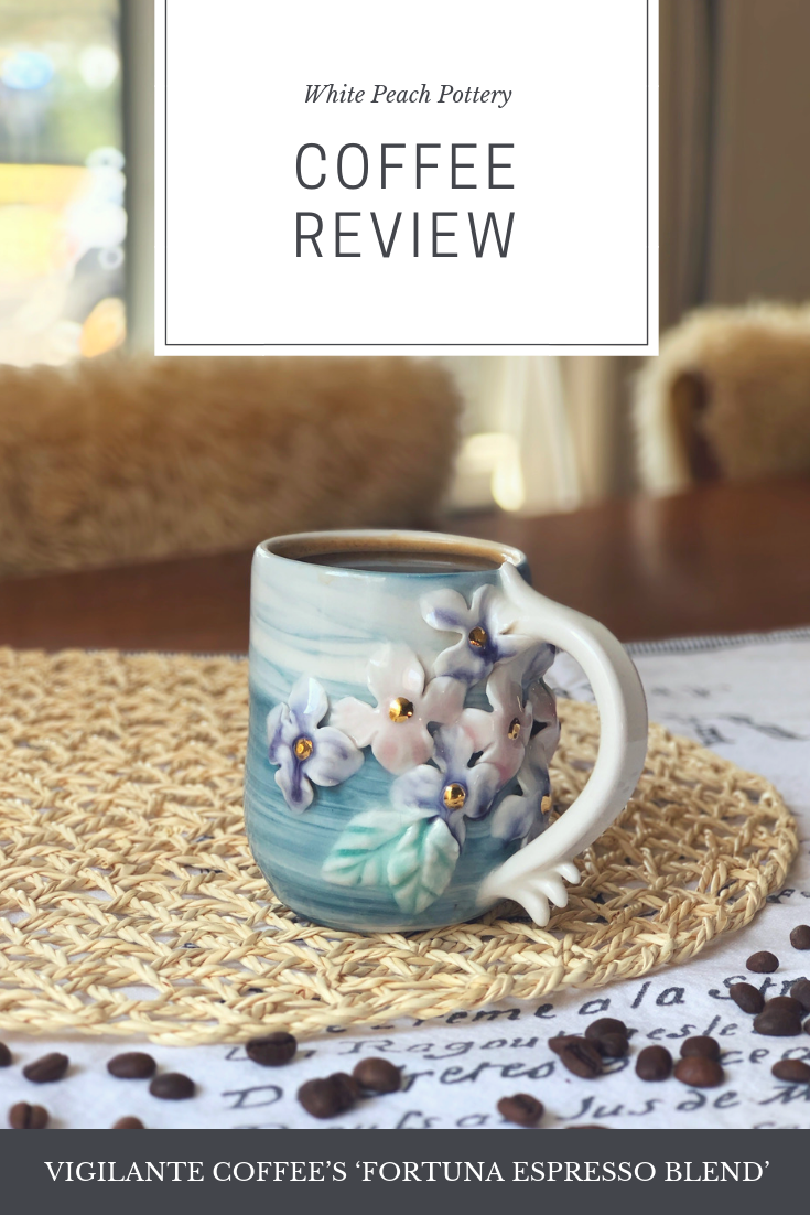 A review of Vigilante Coffee from White Peach Pottery, an ex-barista and coffee taster.