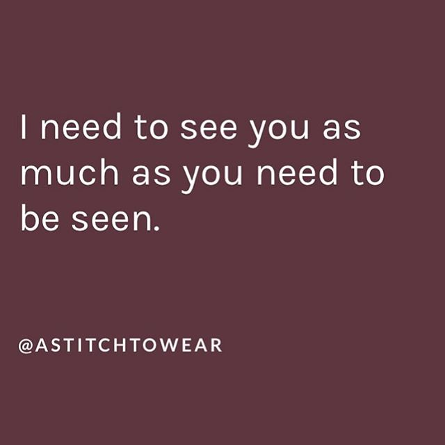 Who are you acknowledging in your daily interactions?  Wise words from - @astitchtowear