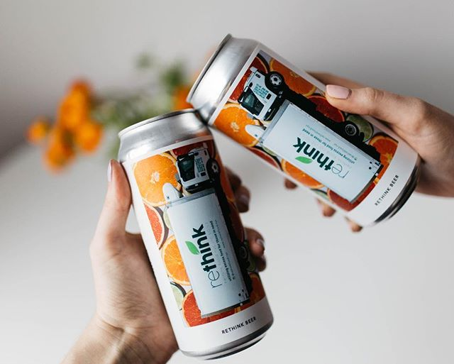 We teamed up with @eviltwinbrewingnyc and @thenomadhotel to Rethink beer. We used spent grain from an Evil Twin IPA and excess citrus from the Nomad Bar to create this light and citrusy pale ale. Cheers! 🍻🍋