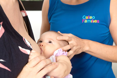 Troubles with breastfeeding, flat head or ear infections? - At Osteo for Families Darwin and Diamond Creek we pride ourselves on our ability to use gentle techniques to release the restrictions, increase drainage to the area, increase mobility and settle any niggles we find. Unfortunately all babies and children present to us differently as no two children are the same, therefore treatment styles, techniques and advice will all be different and cannot be guaranteed.