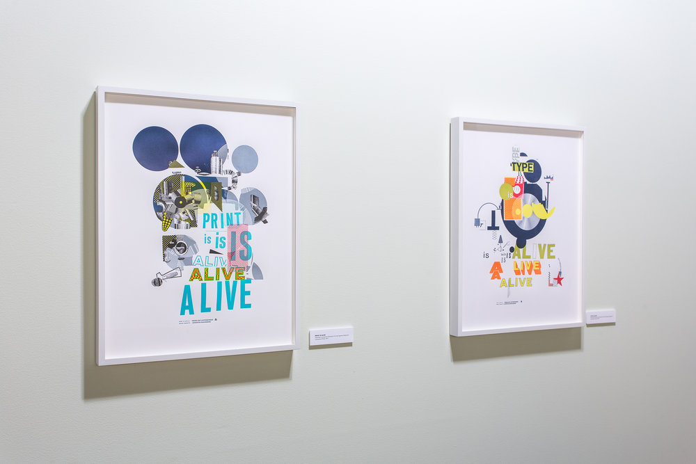 Print is Alive  and  Type is Alive , by Martin Venezky