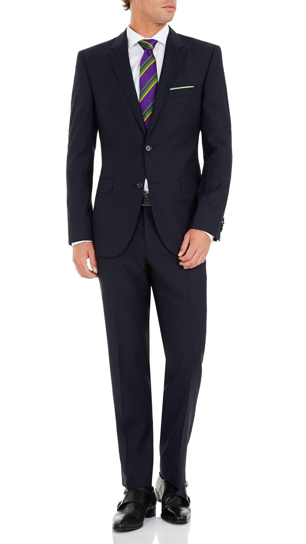 b24f39d6b Hugo Boss James/Sharp Suit in Navy — Ron Bennett Menswear
