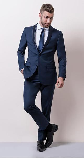 Black Tie with a twist - The twist on the classic. Blue is still formal, but shows you know what's hot right now