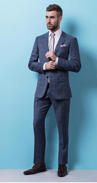Suit Up Your Way - The wedding doesn't have to be so plain so don a check suit to show your unique style.