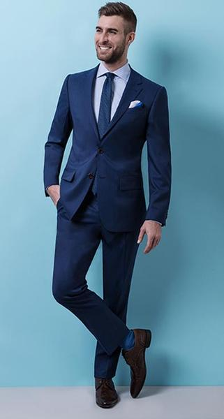 The Classic Suit - Sharp and dependable, you can't go wrong with wool suit. It can attend every wedding