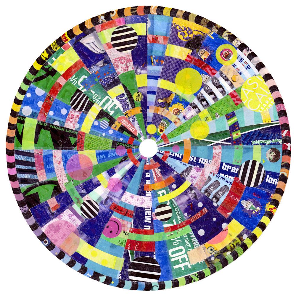 """Bargain Mandala (2010) - 45"""" dia."""