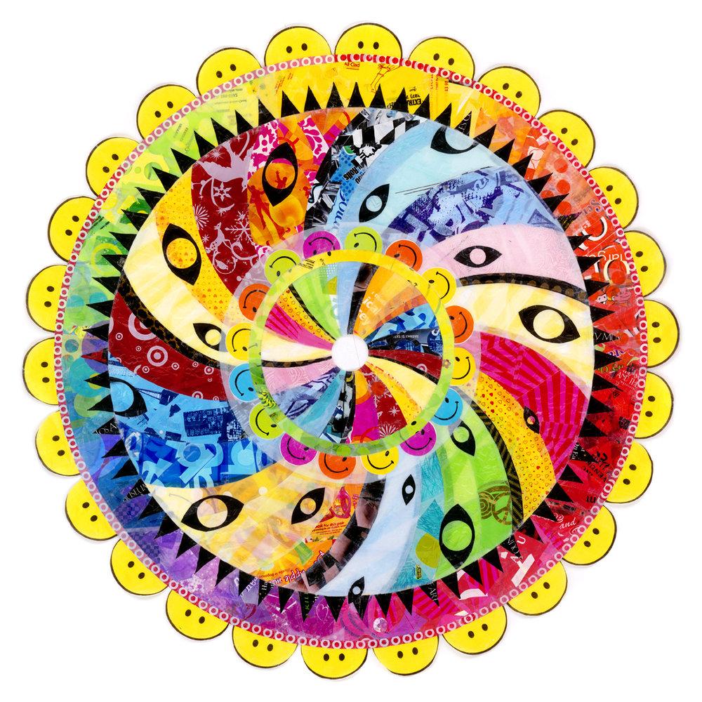 """Happy Fun Mandala (2008) - 58"""" dia."""