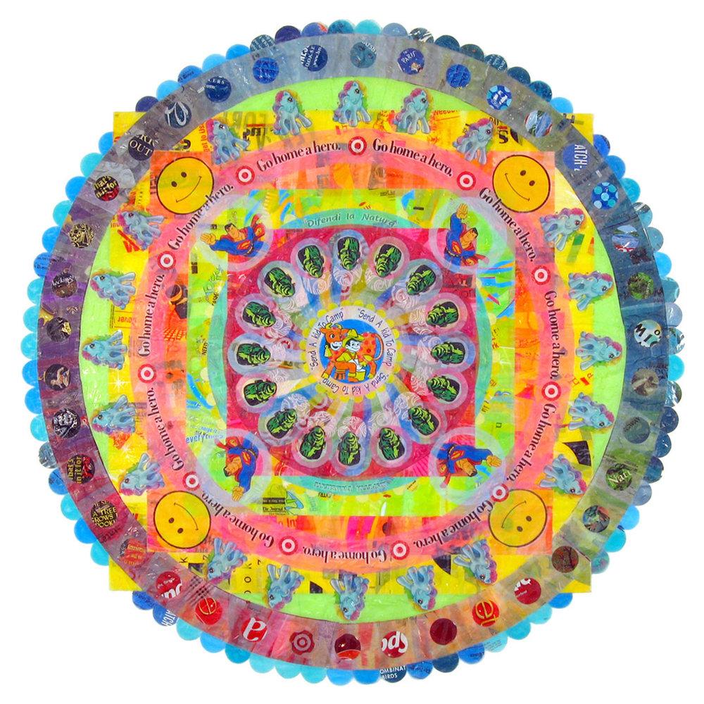 """Manic Mandala (2006) - 67"""" dia."""