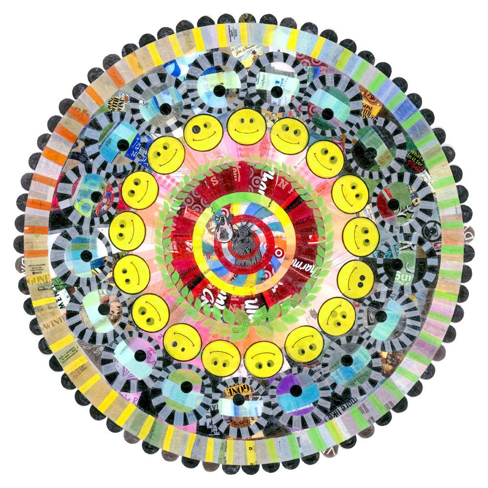 """Liberty Mandala (2005) - 68"""" dia."""