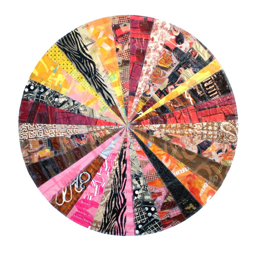 """Pinky Paris Mandala (2011) - 67"""" dia."""