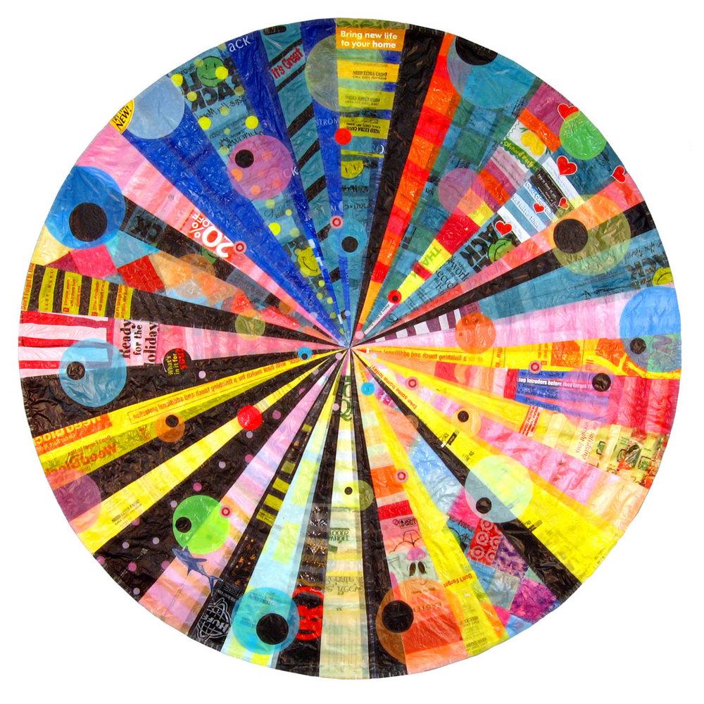 """Small Print Mandala (2006) - 84"""" dia."""