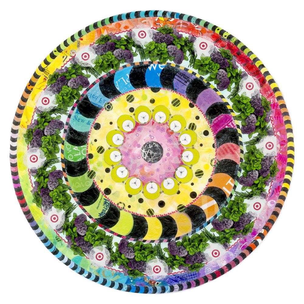 """Mystery Mandala (2010) - 58"""" dia."""