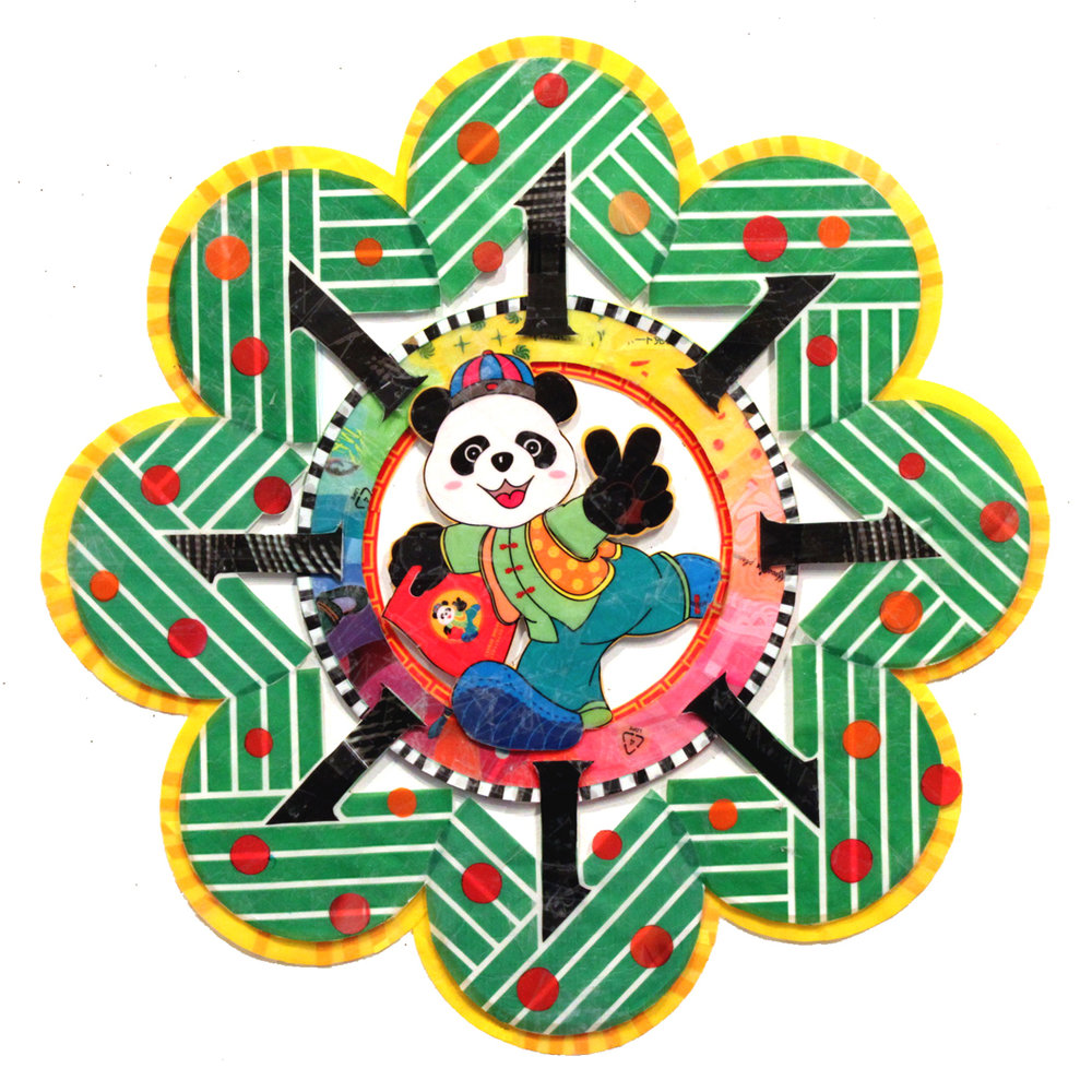 Peace Out Panda Mandala