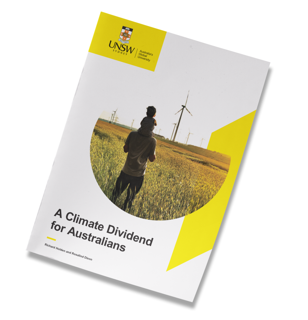 A CLIMATE DIVIDEND FOR AUSTRALIANS - Richard Holden and Rosalind Dixon