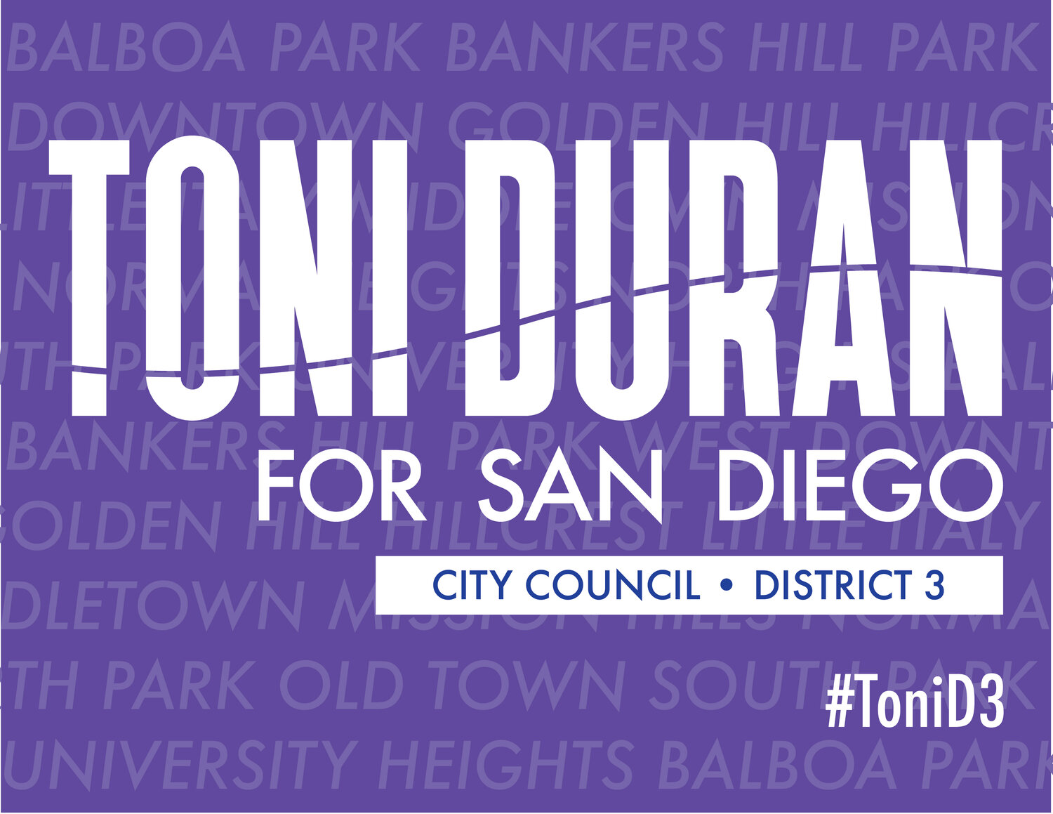 Toni Duran for San Diego City Council