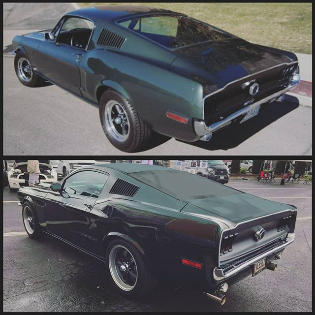 Here's a little Taillight Tuesday action for you! The top is a real 1968 Mustang Fastback and the bottom is our Retro-Bullitt. This is fun because you can see the differences and the similarities in our tribute to the greatest movie car of all time.  #bullittmustang #taillighttuesday #awesome #moviecar #stevemcqueen #ford #fordmustang #retrobuilt #hotrod #legend #tlt