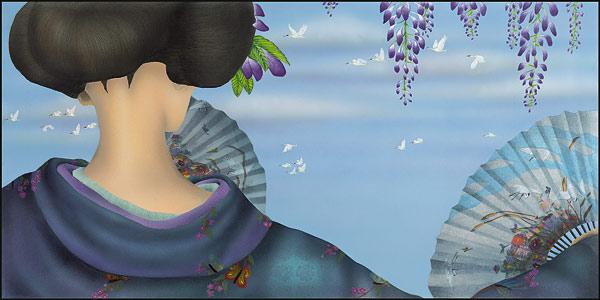 Fuyu: Dancing On The Wind  Kimono Seasons Collection