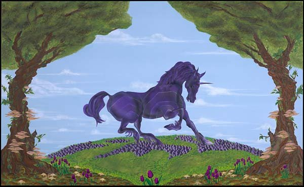 The Amethyst Unicorn  Mythical Stone Gardens Collection