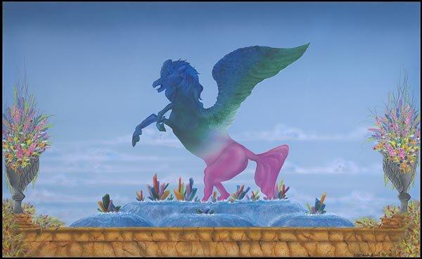 The Tourmaline Pegasus  Mythical Stone Gardens Collection
