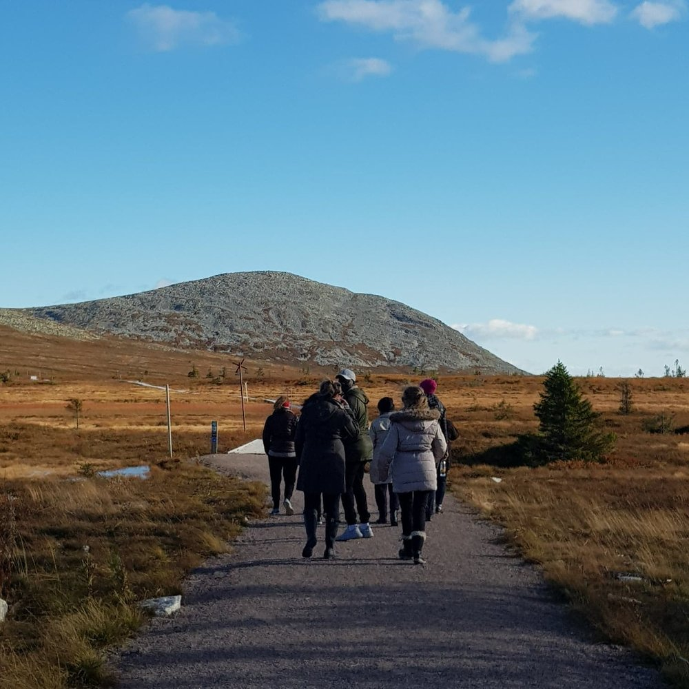 Walking and writing is a transformational practice, and a key component of the writers' retreats - The last retreat (co-hosted with fellow writer Maddie Lama Sjåtil) took place in Trysil, Norway, at Maddie's luxury cabin. The walking trails are beautiful there!