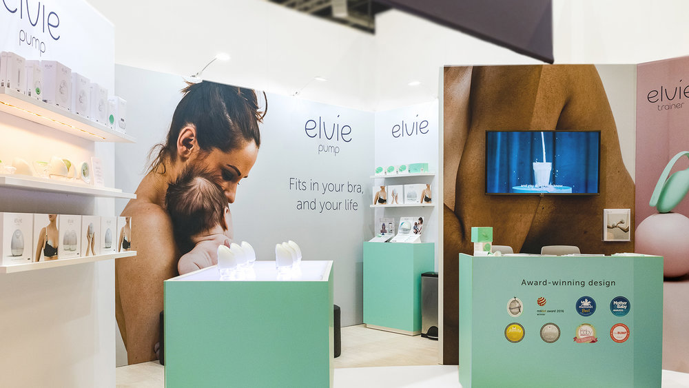 Elvie Exhibition Overall Stand Booth