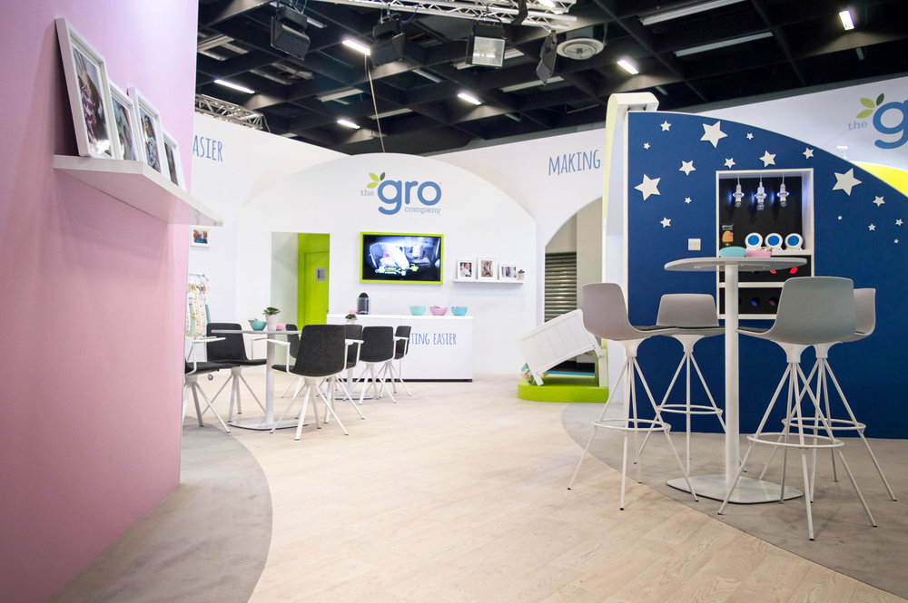 The Gro Company Booth Details Chair Wall