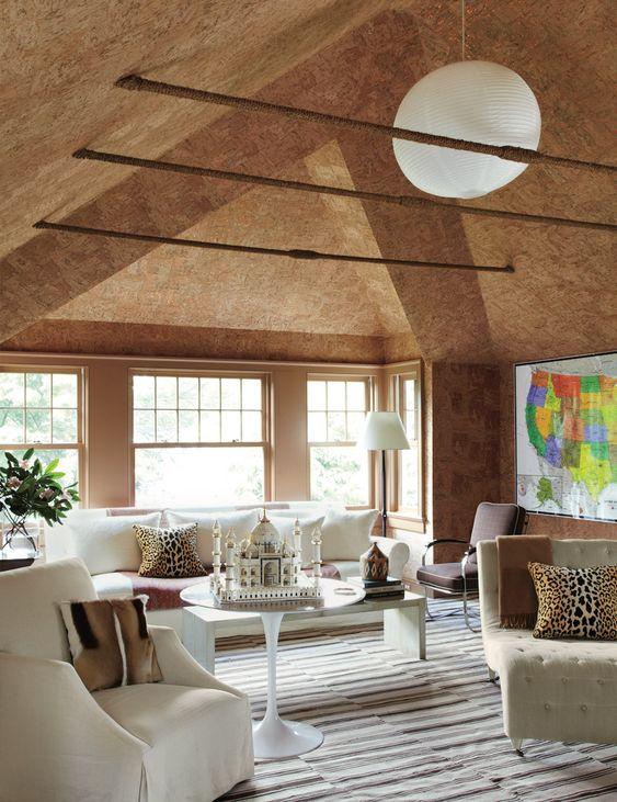 Cork ceiling designed by Miles Redd