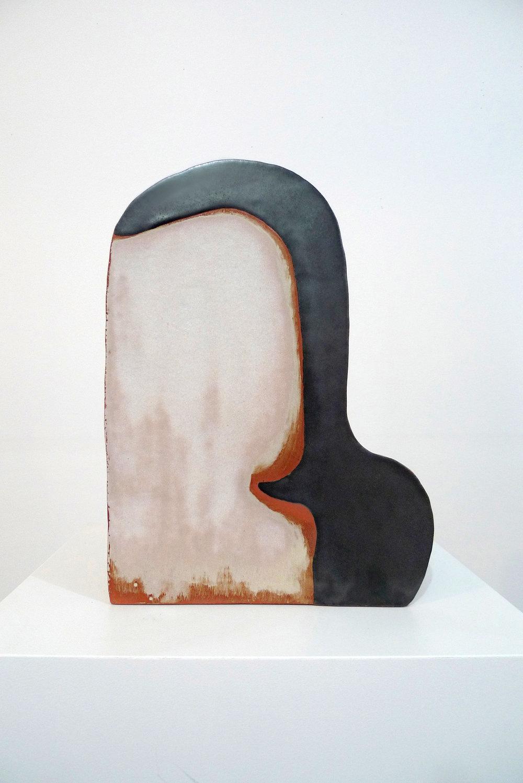 Keiko Narahashi   Untitled (Lady with Black Comma) , 2016 Glazed earthenware 13 x 9 1/2 x 5 1/2 inches