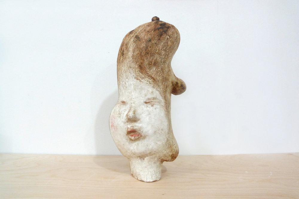 Keiko Narahashi   Untitled (Benevolent Lady) , 2015 Stoneware with oxides 16 1/2 x 8 1/2 x 3 1/2 inches