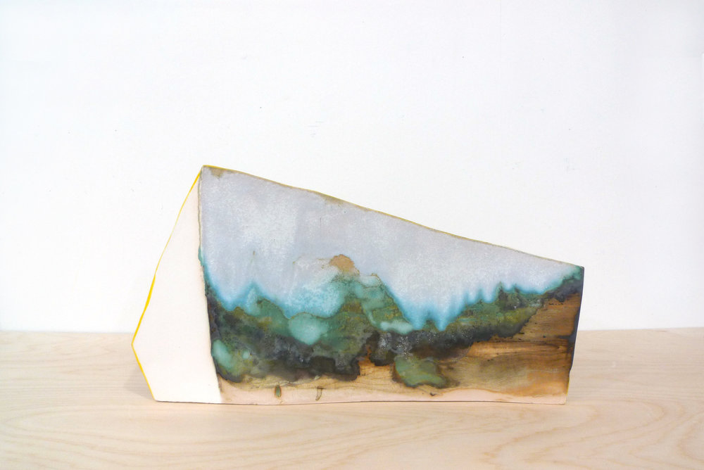 Keiko Narahashi   Untitled (Landscape) , 2017 Glazed stoneware 9 3/4 x 15 1/2 x 7 inches